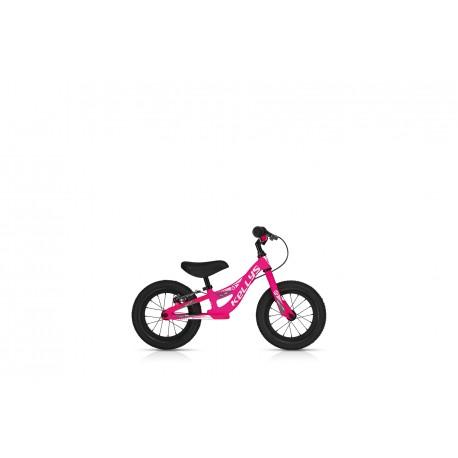 Dětské odrážedlo KELLYS KITE 12 RACE NEON PINK s brzdou KELLYS Sleva 10%