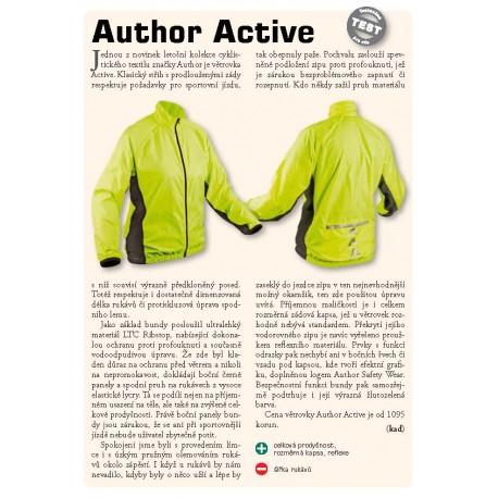 AUTHOR Bunda Active, Velikost L, barva žlutá-neonová/černá AUTHOR 8590816014725 Sleva 245Kč