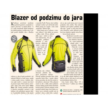 AUTHOR Bunda Blazer, Velikost XXL, barva 13F žlutá-neonová/černá AUTHOR