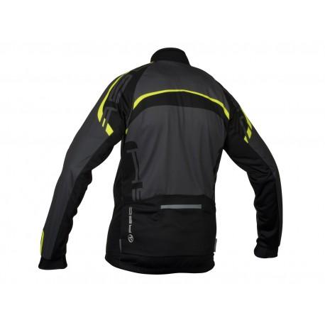 AUTHOR Bunda Blazer, Velikost XL, barva 15B šedá/černá/žlutá-neonová AUTHOR