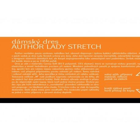 AUTHOR Dres Lady Stretch k/r, Velikost XL, barva černá/bílá AUTHOR Sleva 851Kč