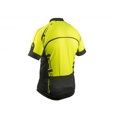 AUTHOR Dres Men Sport X4 k/r, Velikost S, barva 13F žlutá-neonová/černá AUTHOR