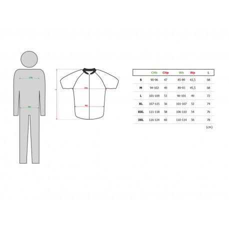 AUTHOR Dres Men Sport X4 k/r, Velikost L, barva 15B šedá/černá/žlutá-neonová AUTHOR