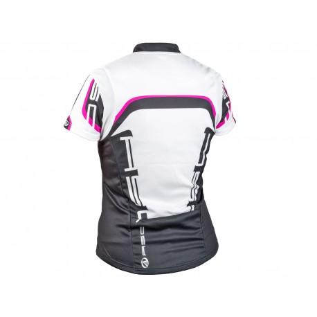 AUTHOR Dres Lady Sport k/r, Velikost S, barva 15A bílá/černá/růžová AUTHOR