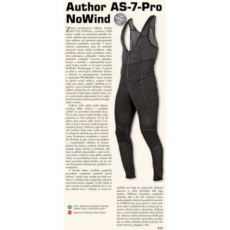 AUTHOR Kalhoty dlouhé AS-7-PRO NoWind (bez vložky), Velikost M, barva černá AUTHOR Sleva 655Kč