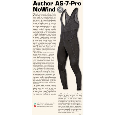 AUTHOR Kalhoty dlouhé AS-7-PRO NoWind (bez vložky), Velikost L, barva černá AUTHOR Sleva 655Kč