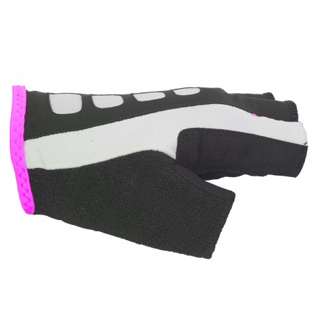 AUTHOR Rukavice Lady Sport Gel X6 k/p, Velikost M, barva bílá/růžová AUTHOR 8590816036390
