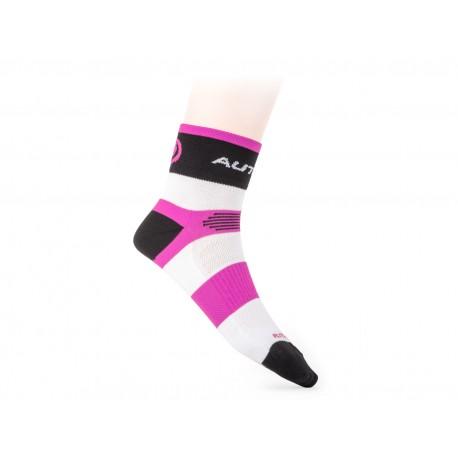 AUTHOR Ponožky XC Lady, Velikost M 39-42, barva růžová/bílá/černá AUTHOR 8590816037014