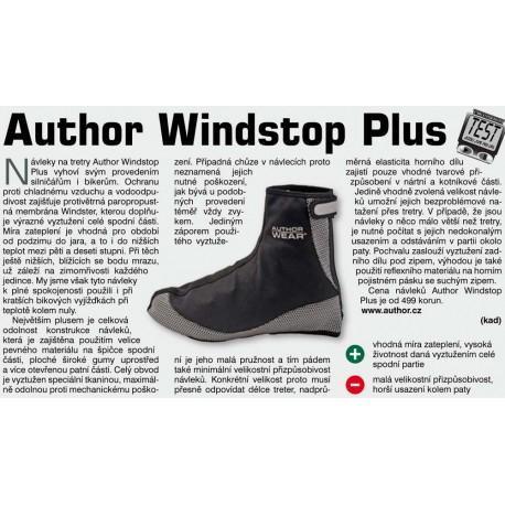 AUTHOR Návleky boty Windstop Plus, Velikost L 43-44, barva černá AUTHOR 8590816015098