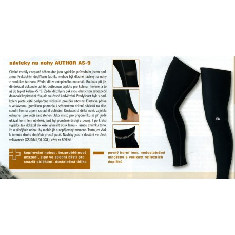 AUTHOR Návleky nohy AS-9, Velikost M-L, barva černá AUTHOR