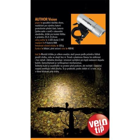 AUTHOR Světlo př. A-Vision 1W LED, barva stříbrná AUTHOR Sleva 100Kč