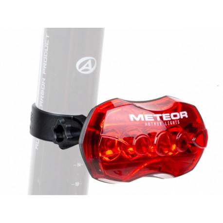 AUTHOR Světlo zad. A-Meteor R (B+), barva černá/červené-sklo AUTHOR