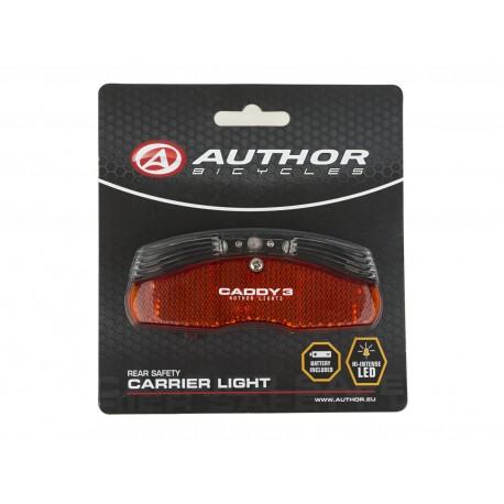AUTHOR Světlo zad. A-Caddy 3, barva černá/červené-sklo AUTHOR