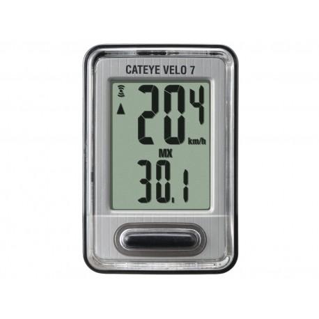CATEYE Cyklopočítač CAT Velo 7 (VL520), barva černá/stříbrná CATEYE Sleva 30Kč