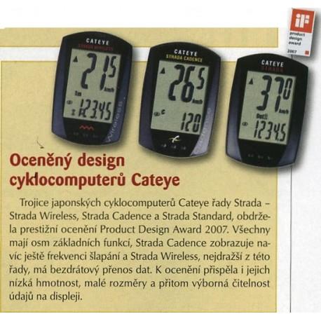 CATEYE Cyklopočítač CAT Strada kadence (RD200), barva černá CATEYE
