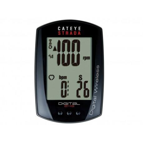 CATEYE Cyklopočítač CAT Strada Digital Wireless (RD410DW), barva černá CATEYE