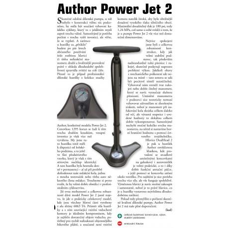 AUTHOR Hustilka nožní AAP Power Jet 2, barva stříbrná/černá AUTHOR