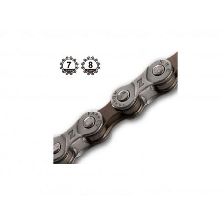 AUTHOR Řetěz KMC Z72 114/6-8, barva šedá/hnědá AUTHOR Sleva 20Kč