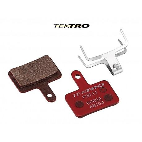 TEKTRO Brzdové destičky TK-P20.11 - Orion (2ks), barva červená TEKTRO