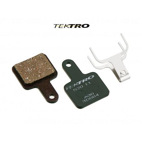 TEKTRO Brzdové destičky TK-S20.11 - Volans (2ks), barva zelená TEKTRO