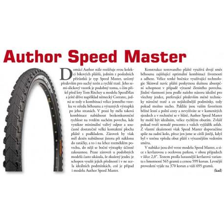 AUTHOR Plášť AT - Speed Master, Velikost 26x2,00 Kevlar, barva černá AUTHOR