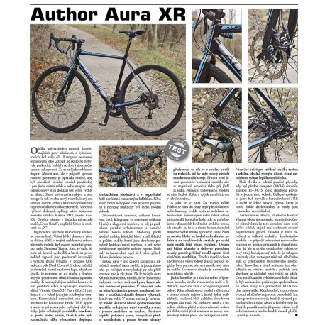 AUTHOR Aura XR 2017, Velikost 52, barva černá/modrá AUTHOR Sleva 5000Kč