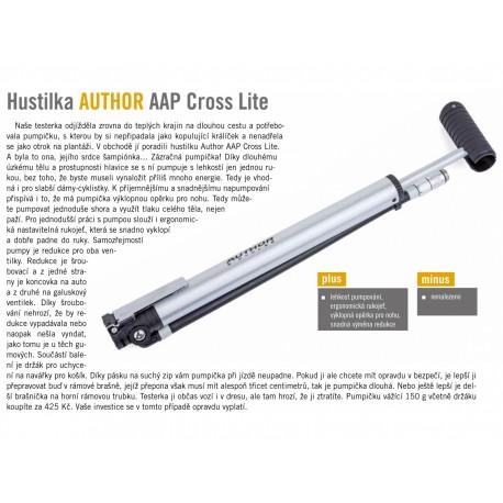 AUTHOR Hustilka AAP Cross Lite, barva stříbrná/černá AUTHOR 8590816023239