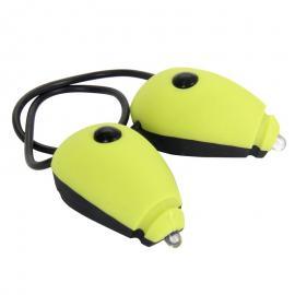 Sada osvětlení WOWOW - přední a zadní mini blikačka s elastickou šňůrkou - lemon set