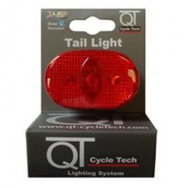 Světlo blikací zadní QT Cycle Tech 3-diody