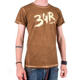 Tričko 34R Brush hnědé