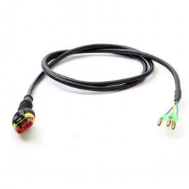 Kabel motoru s oválným konetorem 3pin/1800 mm