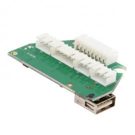 Deska do slučovacího boxu s USB zásuvkou Apache Power