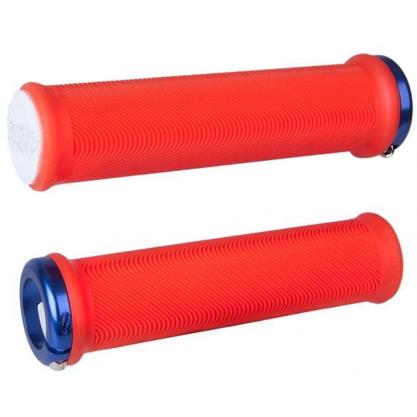 Gripy MTB ODI Sensus Lite V2.1 Lock-On Bonus Pack červené
