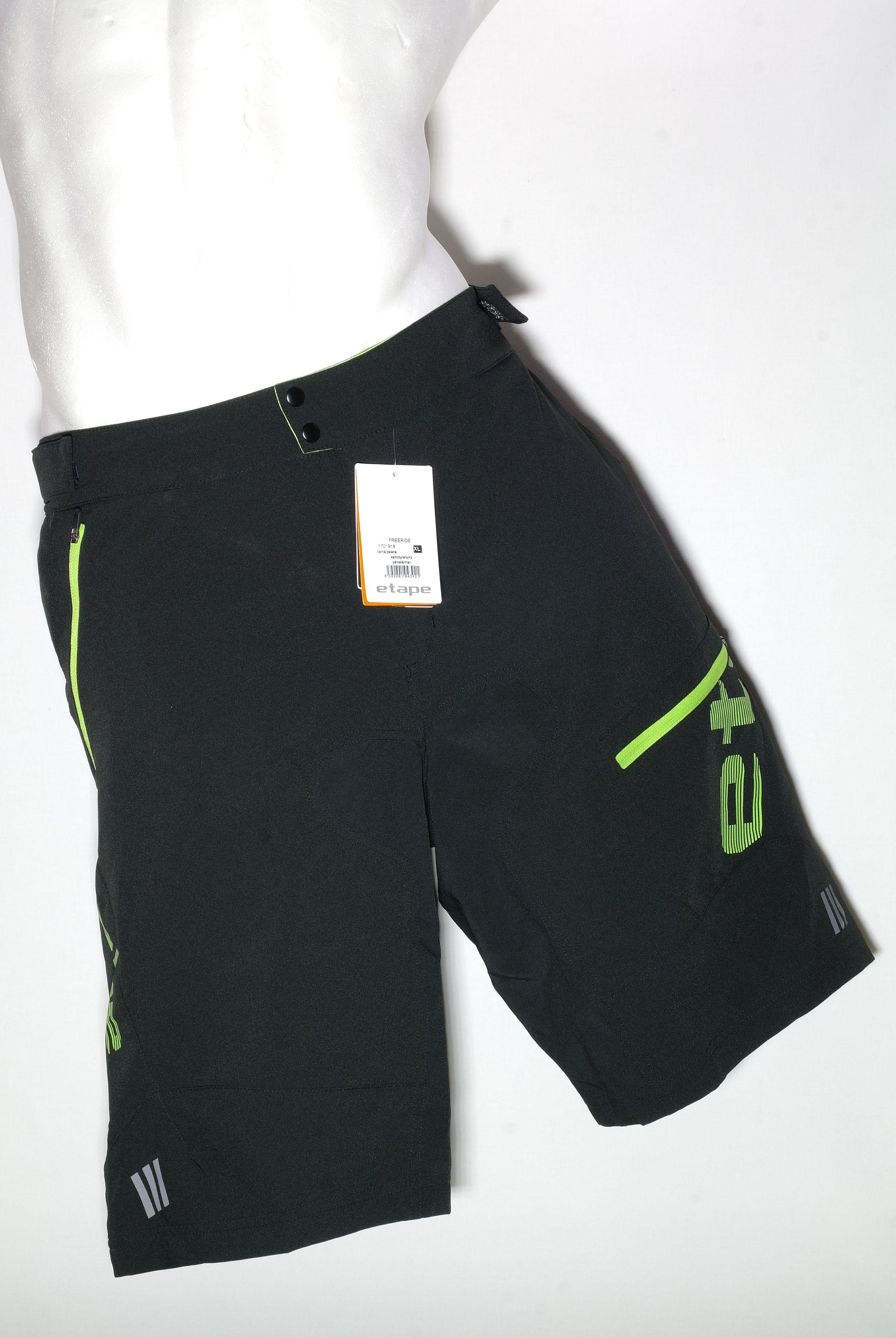 ETAPE FREERIDE kalhoty krátké volné černá/zelená XL