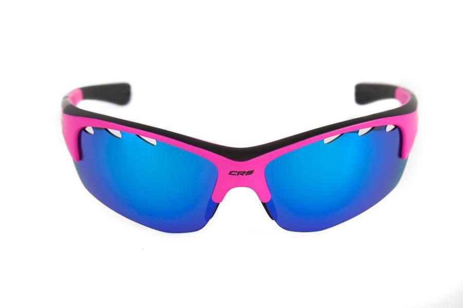 CRUSSIS Brýle CRUSSIS růžové neon s modrými zrcadlo skly