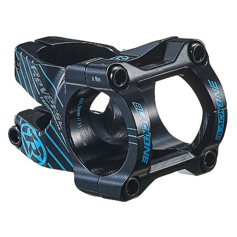Představec Reverse Black One D-2 35 mm / 31,8 mm Black / Light Blue + čepička - šroub