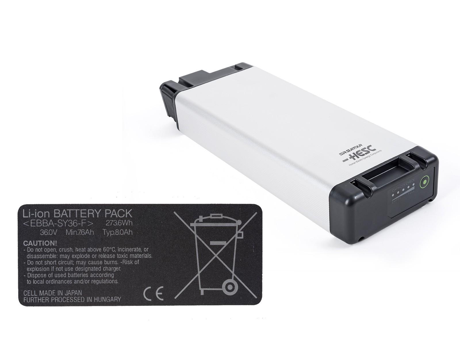 Author Baterie Sanyo Li-ion, 36V, 8,0 AH, 290Wh 2014 černá Author
