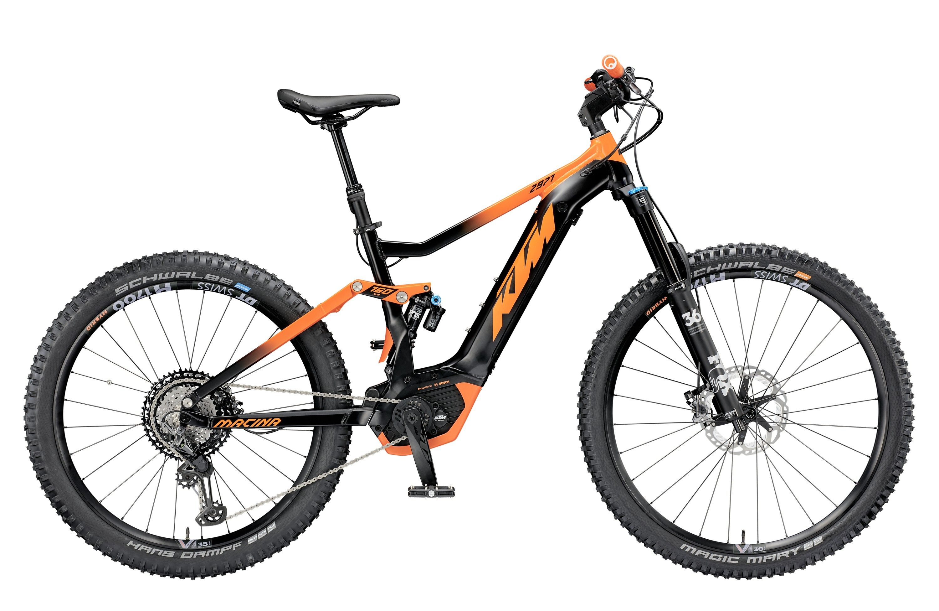 "KTM Macina Kapoho 2971 2019 - 2019 / S / 43cm (17"") / black matt / orange / Pánský"