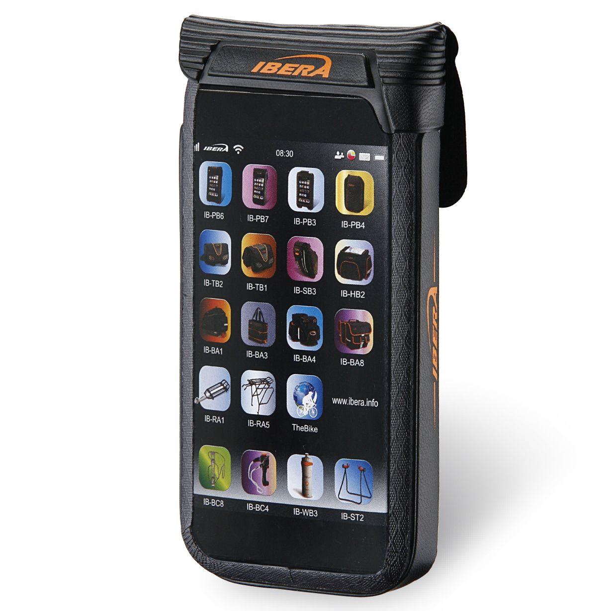 """Pouzdro vodotěsné na řidítka Ibera IB-PB16 - Smartphone 5""""+Q4"""