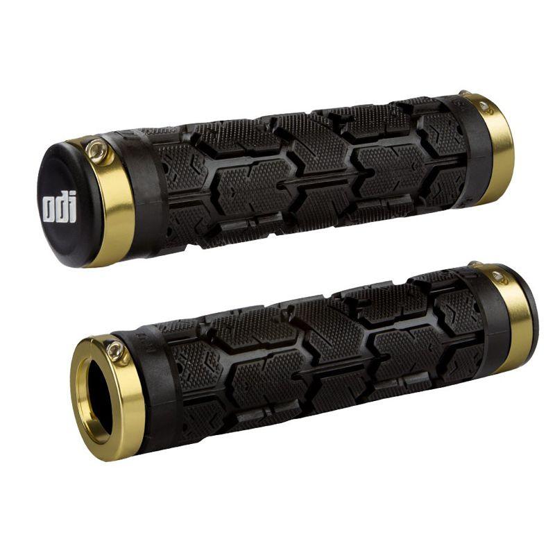 Gripy MTB ODI Rogue Lock-On Bonus Pack černá / zlatá