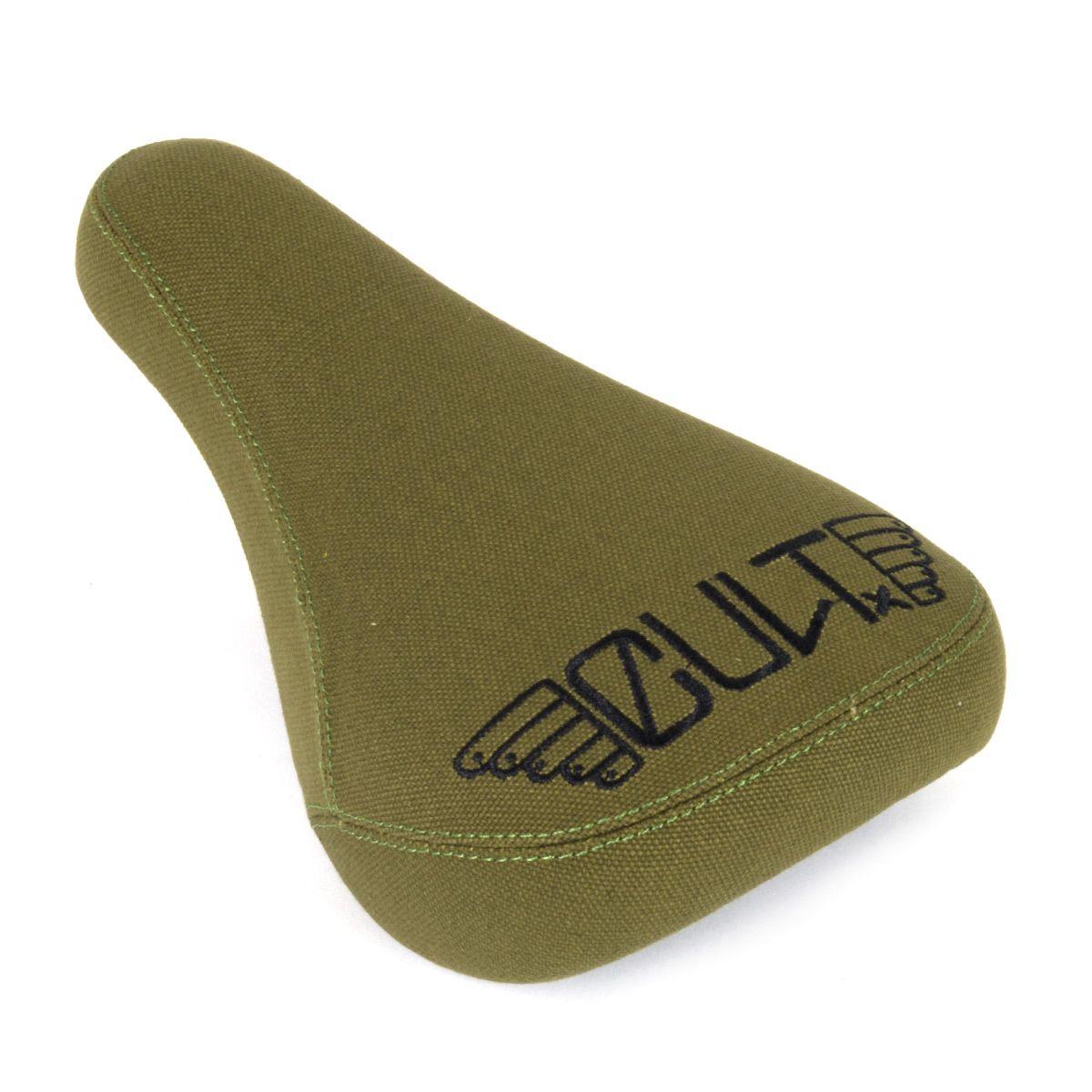 Sedlo BMX CULT Dak Tripod Kevlar zelené