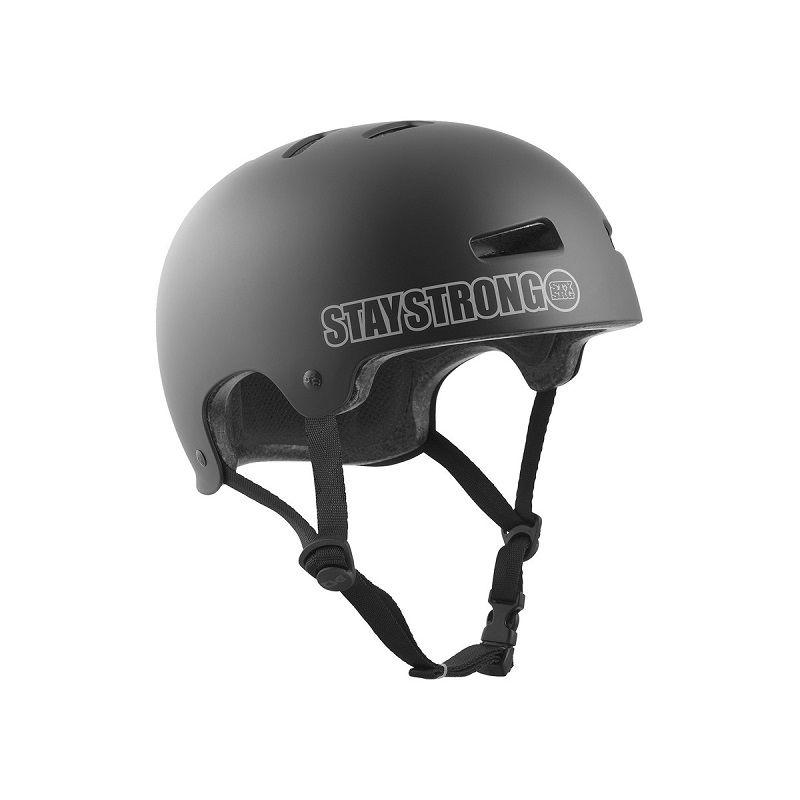 Přilba TSG Evolution Charity design Stay Strong černá matná - bílý nápis - L/XL